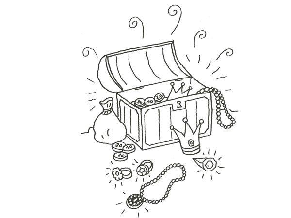 17546-4-dibujo-de-un-tesoro-de ...