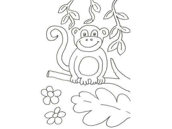 17586-4-dibujo-de-un-chimpance ...