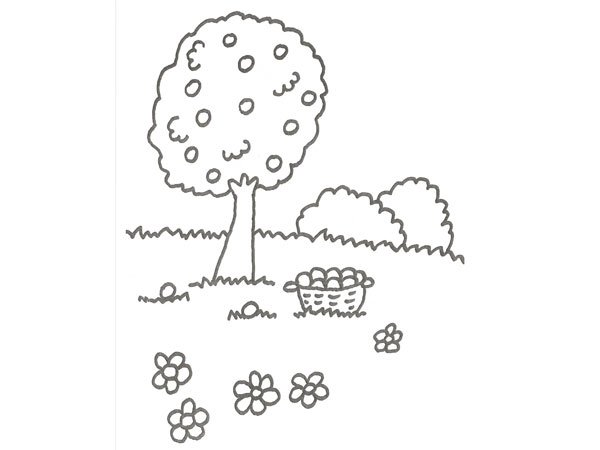 El Arbol De Los Frutos Para NiÑos: Imagenes De Arboles Con Frutos Para Colorear