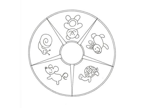 Dibujo educativo de animales para colorear con niños