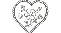 Dibujo de corazón de San Valentín