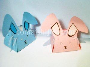 Caja de conejo para Pascua. Manualidad infantil