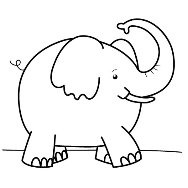 Free coloring pages of elefante elmer