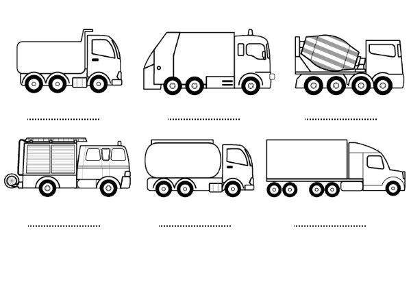 Camion de basura para pintar - Imagui