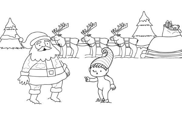 Papá Y Mamá Noel Dibujos Para Imprimir Y Colorear: Ropa Limpia Colorear
