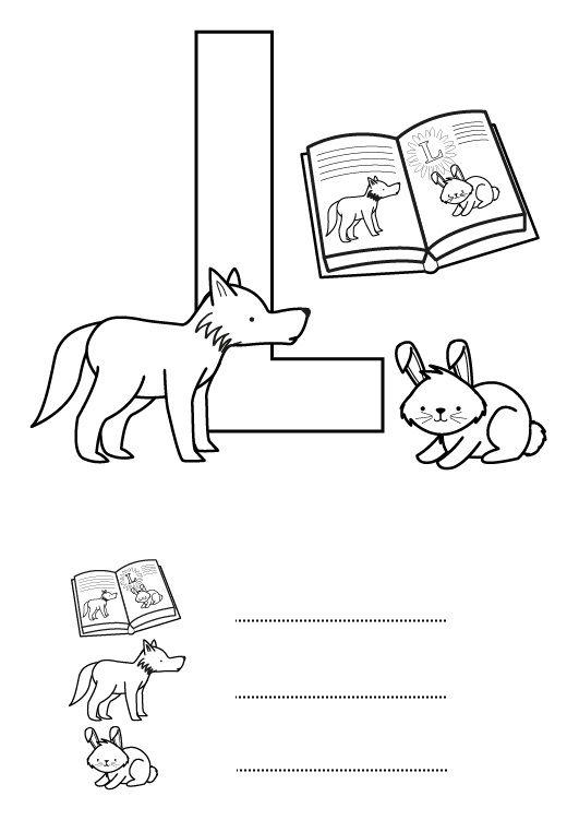 Letra L: dibujo para colorear e imprimir