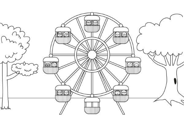 El Parque De Atracciones De Dibujos Animados Ven A Jugar: Dibujos De La Familia En El Parque De Diversiones Para