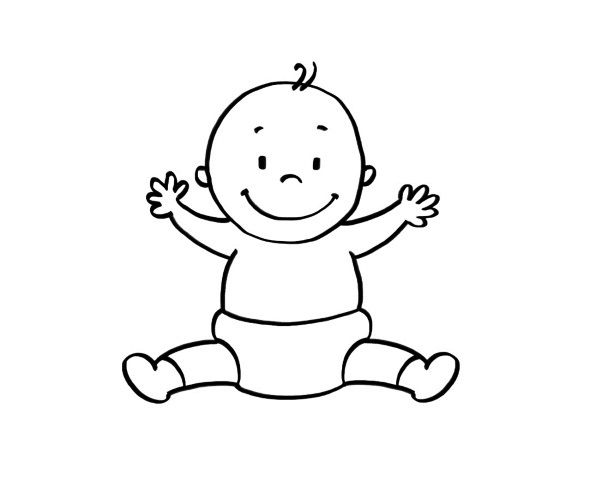 20036-4-un-bebe-dibujo-para- ...
