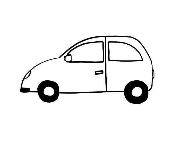 Un coche: dibujo para colorear e imprimir