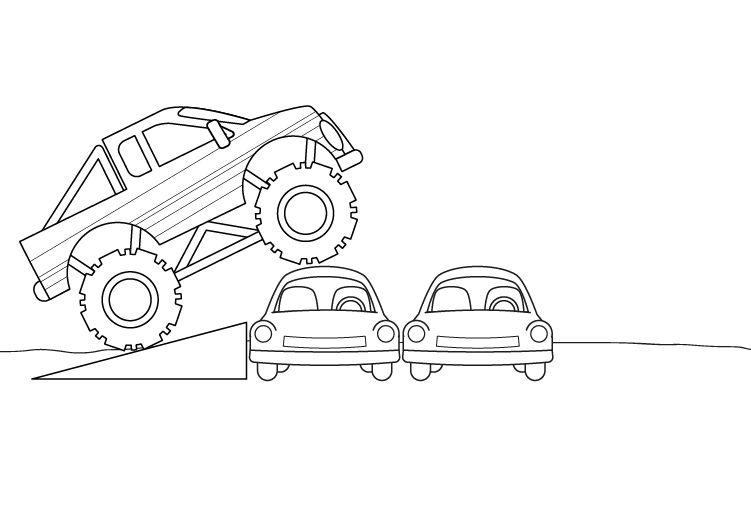 Dibujo De Monstruo Malo Para Colorear: Camion Monstruo Para Colorear