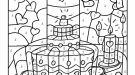 Dibujo mágico de una tarta: dibujo para colorear e imprimir