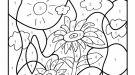 Dibujo mágico de girasoles: dibujo para colorear e imprimir