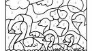 Dibujo mágico de patitos: dibujo para colorear e imprimir