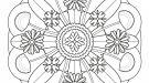 Mandala floral: dibujo para colorear e imprimir