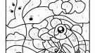 Dibujo mágico de una rana: dibujo para colorear e imprimir