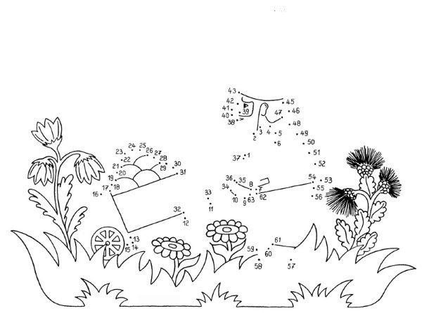 Numeros Para Colorear En Linea Fichas Para Unir Puntos Y: Imprimir: Dibujo De Unir Puntos De Un Carro: Dibujo Para