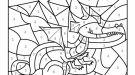 Dibujo mágico de un dragón: dibujo para colorear e imprimir