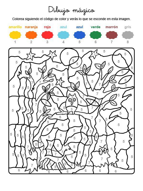 Dibujo mágico de fantasma en el bosque: dibujo para ...