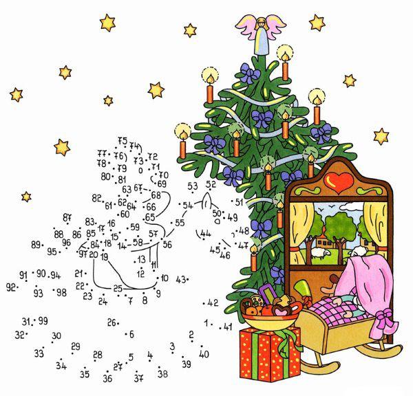 Imprimir dibujo de unir puntos de rbol en navidad en - Dibujos en color de navidad ...