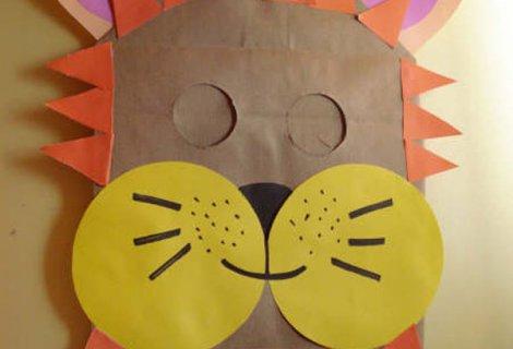 Mascara de leon reciclable como hacer un antifas en fomi - Como hacer una mascara ...