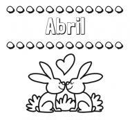 Dibujos Con El Nombre Abril Para Colorear E Imprimir