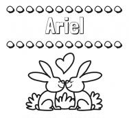 Dibujos Con El Nombre Ariel Para Colorear E Imprimir
