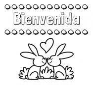 Dibujos Con El Nombre Bienvenida Para Colorear E Imprimir