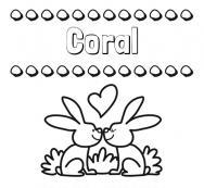 Dibujos con el nombre Coral para colorear e imprimir