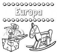 Dibujos Con El Nombre Europa Para Colorear E Imprimir