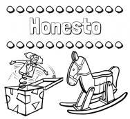 Dibujos Con El Nombre Honesto Para Colorear E Imprimir
