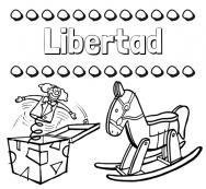 Dibujos Con El Nombre Libertad Para Colorear E Imprimir