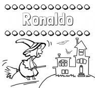 Dibujos Con El Nombre Ronaldo Para Colorear E Imprimir