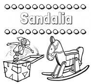 Nombre Con Para Dibujos Sandalia E Colorear El Imprimir 345RLjAq