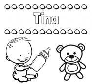 Dibujos Con El Nombre Tina Para Colorear E Imprimir