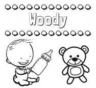 Dibujos Con El Nombre Woody Para Colorear E Imprimir