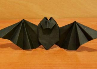 Vídeo de papiroflexia para halloween. Murciélago negro