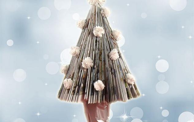 Vídeo de cómo hacer un árbol de Navidad con una revista