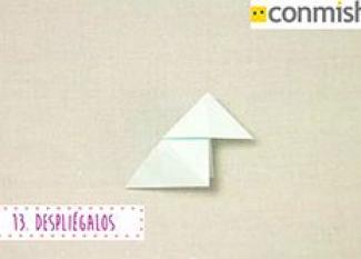 Cómo hacer una pajarita en Origami