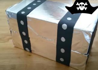 Cómo hacer un cofre pirata lleno de golosinas