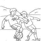 Partido de fútbol: dibujo para colorear e imprimir