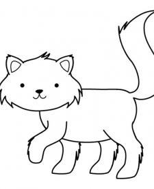 Gatito: dibujo para colorear e imprimir