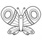 Mariposa de colores: dibujo para colorear e imprimir