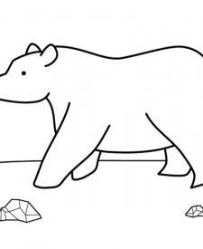 Oso en la montaña: dibujo para colorear e imprimir