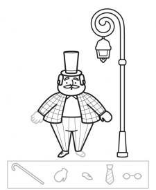 Señor despistado: dibujo para colorear e imprimir