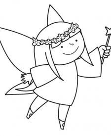 Hada infantil: dibujo para colorear e imprimir