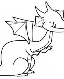 Dragón: dibujo para colorear e imprimir