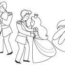 Baile de príncipes: dibujo para colorear e imprimir