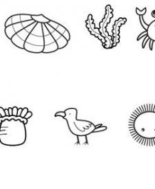 Imágenes de la orilla del mar: dibujo para colorear e imprimir