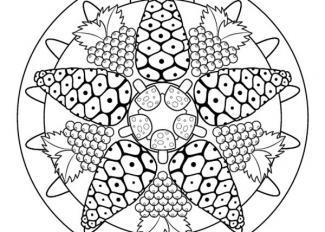 Mandala de otoño: dibujo para colorear e imprimir