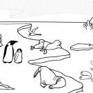 Animales del hielo: dibujo para colorear e imprimir